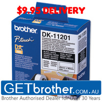 Brother DK-11201 White Label Genuine - 29mm x 90mm - 400 per roll (DK-11201)
