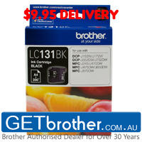 Brother LC-131 Black Ink Cart Genuine - up to 300 pages (LC-131BK)