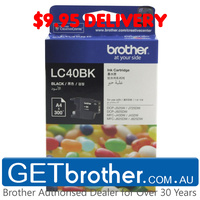 Brother LC-40BK Black Ink Cartridge Genuine - 300 pages (LC-40BK)