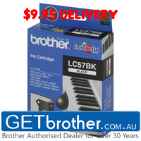 Brother LC-57BK Black Ink Cartridge Genuine - up to 500 pages (LC-57BK)