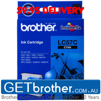 Brother LC-57C Cyan Ink Cartridge Genuine - up to 400 pages (LC-57C)