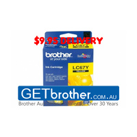 Brother LC-67Y Yellow Ink Cartridge Genuine - 325 pages (LC-67Y)