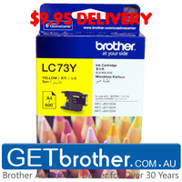 Brother LC-73 Yellow Ink Cartridge Genuine - 600 pages  (LC-73Y)