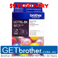 Brother LC-77XL Black Ink Cartridge Genuine - 2,400 pages (LC-77XLBK)