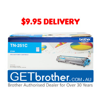 Brother TN-251 Cyan Toner Cartridge Genuine - 1,400 pages (TN-251C)