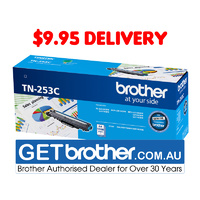 Brother TN-253C Cyan Toner Cartridge Genuine - 1,300 pages (TN-253C)