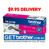 Brother TN-257M Magenta High Yield Toner Cartridge Genuine - 2,300 pages (TN-257M)
