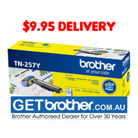 Brother TN-257Y Yellow High Yield Toner Cartridge Genuine - 2,300 pages (TN-257Y)