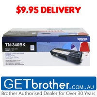 Brother TN-340 Black Toner Cartridge Genuine - 2,500 pgs (TN-340BK)