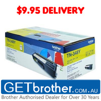 Brother TN-348 Yellow Toner Cartridge Genuine - 6,000 pgs (TN-348Y)